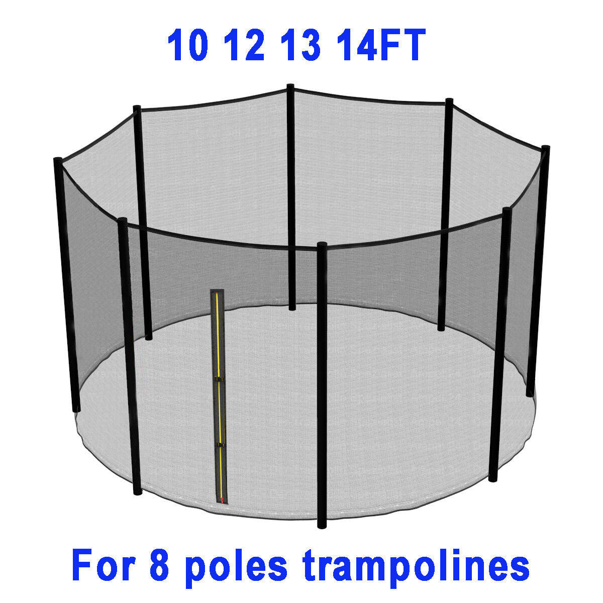TRAMPOLINE REPLACEMENT PAD PADDING SAFETY NET COVER LADDER SKIRT 6 8 10 12 14FT - 4