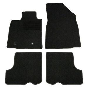 4 tapis sol moquette noir specifique dacia sandero 2008 2013 prestige stepway