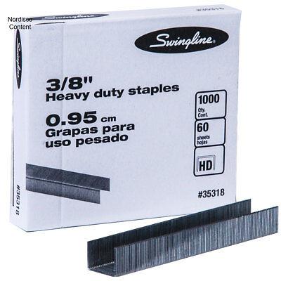 """Swingline 35318 3/8"""" Heavy Duty Staples, Box of 1000"""