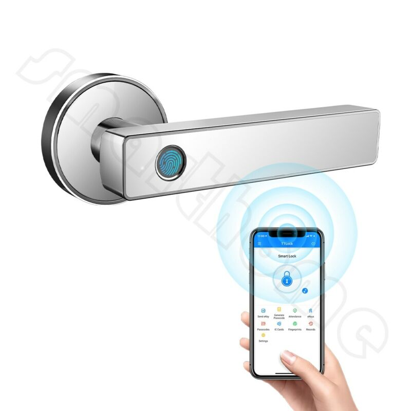 Fingerprint Smart Door Lock Biometric Keyless Entry WiFi Bluetooth APP Unlock