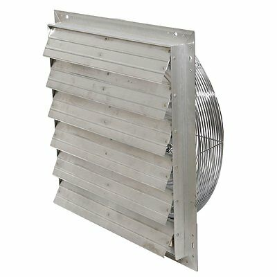 Exhaust Shutter Fan 24 Garage Industrial Shop Ventilator Fans Wall Mount Attic