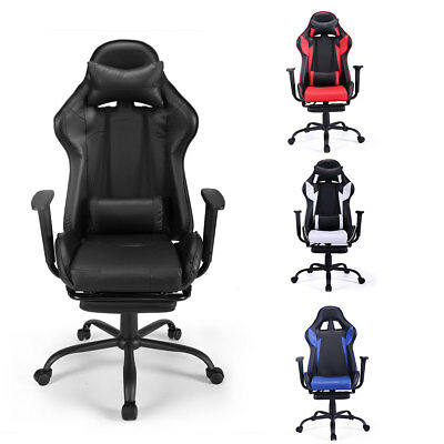 Gaming Chair Racing Seat Recliner Adjustable Executive High Back Wfootrest