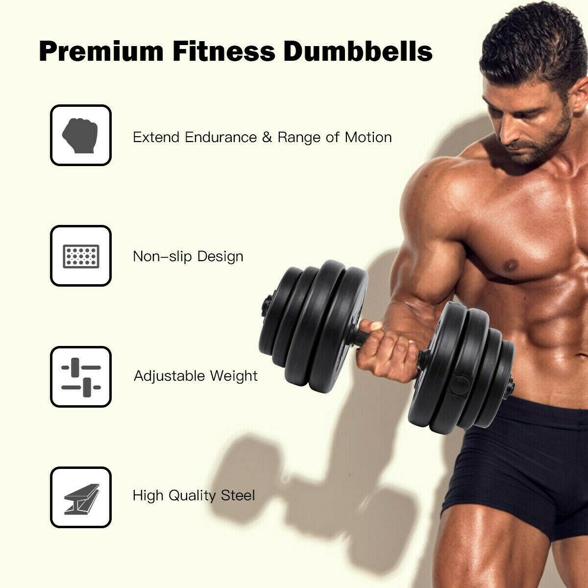 Weights Dumbbell Set Handle Exercise Equipment High Quality