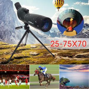 25-75X70 Zoom Spotting Scope 92mm Monocular Telescope Tripod Birdwatching UK