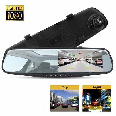 HD 1080P Car Rearview Mirror DVR Dual Lens Video Dash Cam Camera Night#Vision