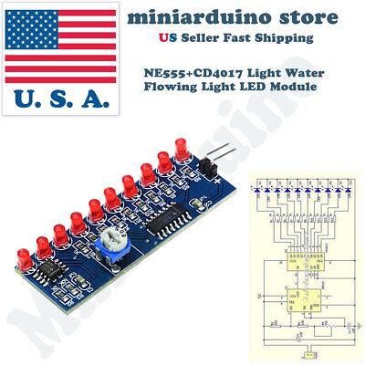 Ne555 Cd4017 Light Water Flowing Light Led Fully Assembled Module