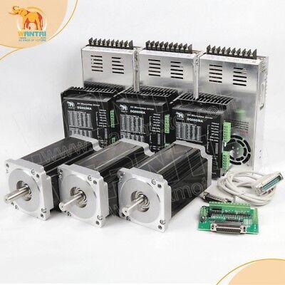 Cnc Kit-3axis Nema34 Stepper Motor 1232oz-in5.6adriver Dq8607.8a