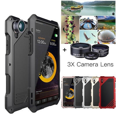 Iphone Camera Lens - Shockproof Metal Case Camera Lens Hybrid for iPhone X XS Max XR 8 7 6 Waterproof