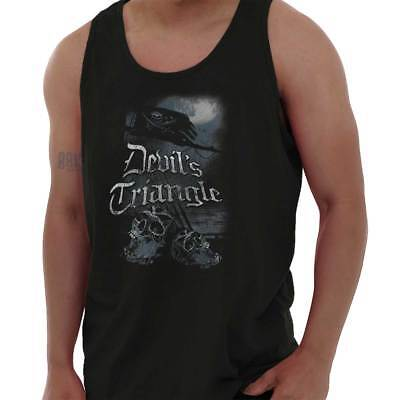 Devils Triangle Pirate Movie Bermuda Graphic Adult Tank Top T-Shirt Tees Tshirt - Adult Pirate Movie