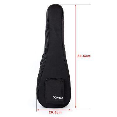 Kmise Baritone Gig Bag 30 inch Soft Carring Case for Ukulele Guitar Double Strap
