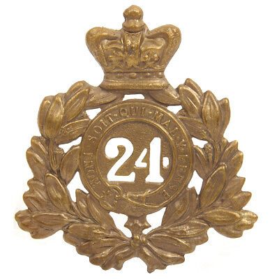 British Victorian Era 24th of Foot Regiment Metal Helmet Plate