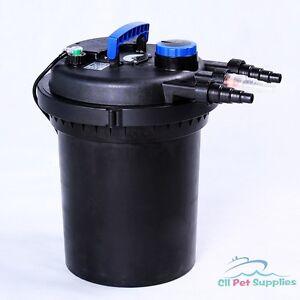 3000 gal pressure pond filter w 13w uv sterilizer koi fish for Uv pond filters for sale