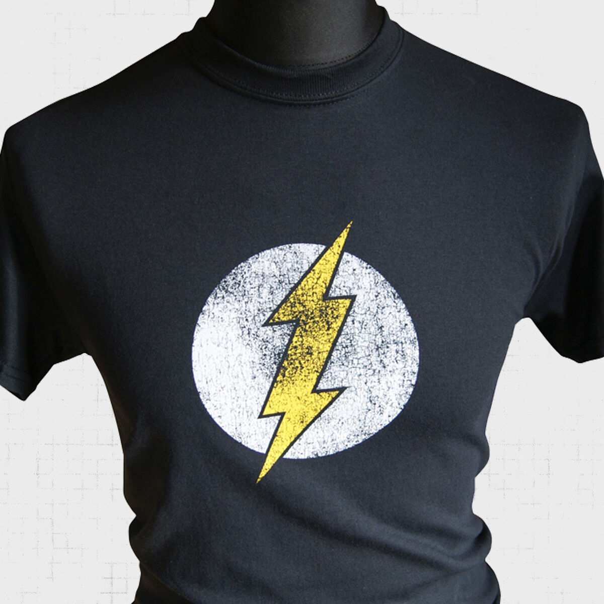 Black Flash Inspired Super Hero T Shirt Comic Character Ebay