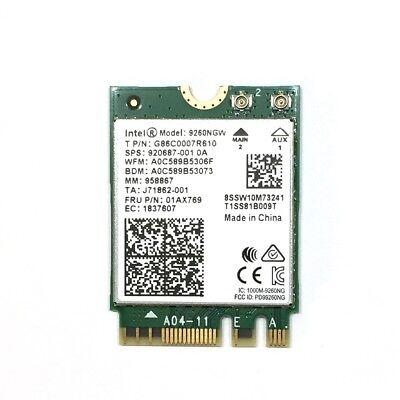 Intel 9260.NGWG.NV Wireless-AC 2x2 Wifi Bluetooth-5 M.2 2230 No vPro
