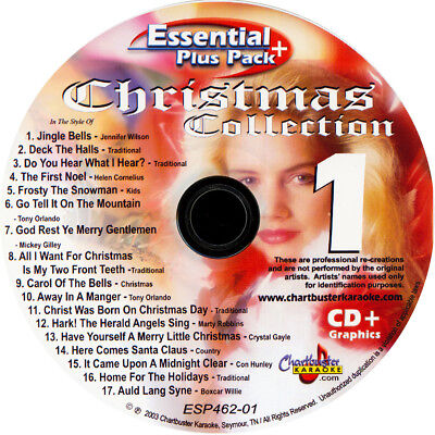 Karaoke d+G 462 Chartbuster Christmas Collection 6 disc in Case With song List  for sale  Shipping to Canada
