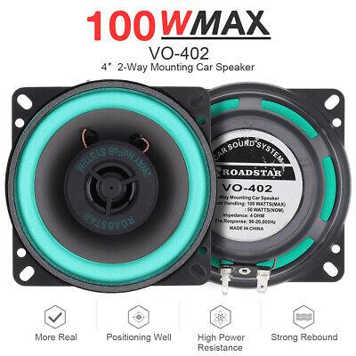 4 Inch 100W 2 Way Car Door HiFi Audio Music Stereo Coaxial Speaker Loudspeaker Loudspeaker 2 Way Speaker