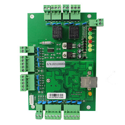 Tcpip Network Access Control System Board Panel Entry Controller 2door 4reader