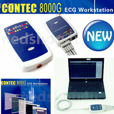 Contec8000g Ecg Workstation Systemportable 12-lead Resting Pc Base Ekg Machine