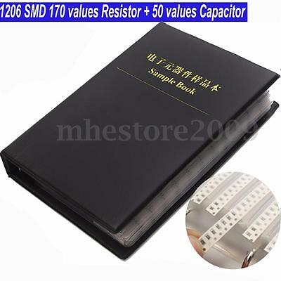 1206 Smd 170 Values Resistor And 50 Values Capacitor Assorted Kit Sample Book
