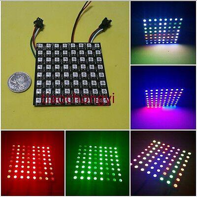 88 Display Flexible Led Matrix Ws2812b 8x8 Pixel Full Color Rgb Screen 5v Dc