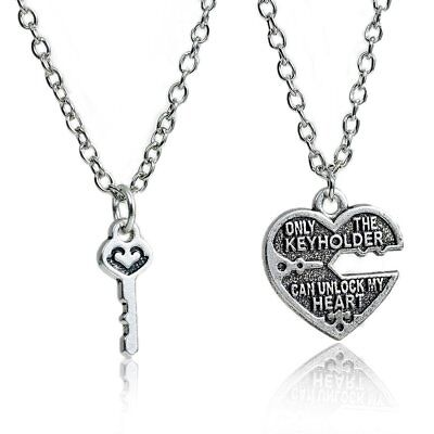 Couples necklaceebay 1 1 set couples necklace only the key holder can unlock my heart broken heart mozeypictures Choice Image