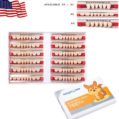Dental Denture Acrylic Resin Teeth Full Set Anterior Posterior Shade A1a2a3