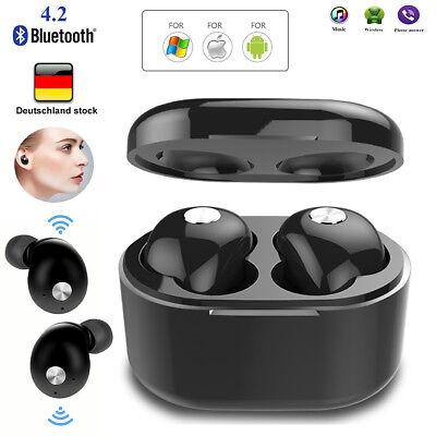 Drahtlos Bluetooth 4.2 Kopfhörer In Ear Stereo Ohrhörer Sport Headset Kopfhrer