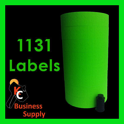 Green Labels For Monarch-paxar 1131 Price Gun Labeler 8 Rolls Ink Included