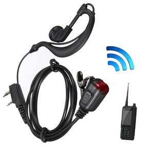 D Shape Earpiece Headset PTT for Motorola Two Way Radio Walkie