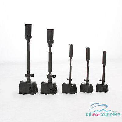 476 Waterfall (Fountain Pond Pump w/ Nozzles Heads Sets for Waterfall Water Feature 160-476)