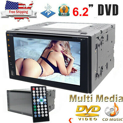 "7"" 2 Din Car DVD CD Player Double Stereo Radio Bluetooth In-Dash Kit +Camera"