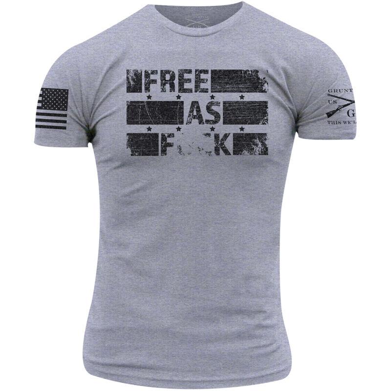 Grunt Style Free As Fck T-Shirt - Heather Gray