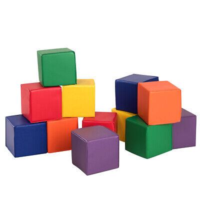 "12-Piece 8"" PU Foam Big Building Blocks Colorful Soft Blocks Play Set For - Foam Blocks For Kids"