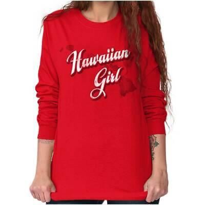 Hawaii Fashion Hawaiian Girl Trendy State Long Sleeve T-Shirts Tee For - Hawaiian Shirts For Girls