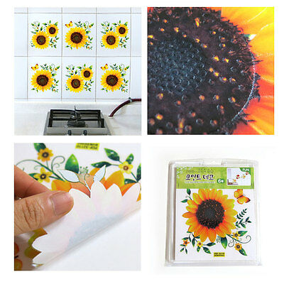 Sunflower Point Decor Stickers DIY Home Art Living Kitchen Kids Bath Cafe