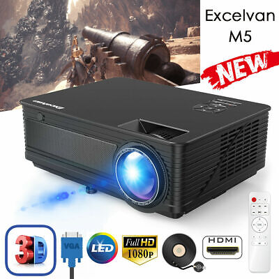 Excelvan 7000 Lumens 1080P LED Projector WUXGA/1280*768 Multimedia Home Theater