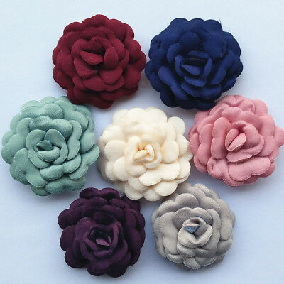 Padded Felt Flower Applique Clothes Sewing Diy Craft Flower Party Wedding Decor