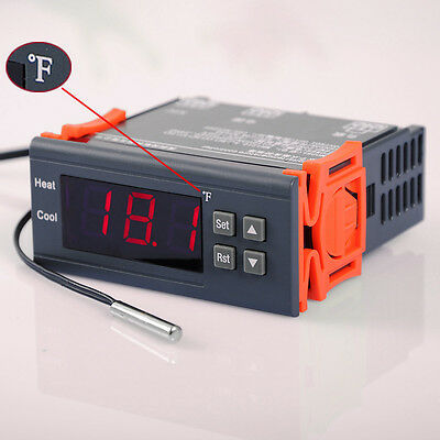 AC 110V Temperature F Controller Temp Sensor incubation thermostat Switch Relay on Rummage