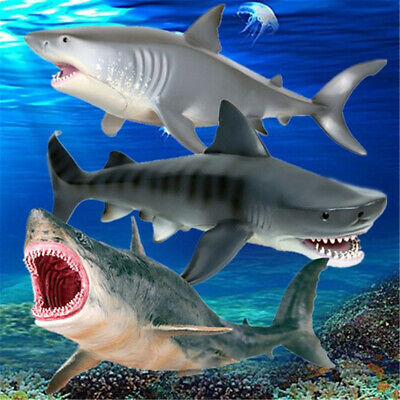 Megalodon Great White Shark Animal PVC Children Model Toy Collector Decor Gift - Great White Shark Toys
