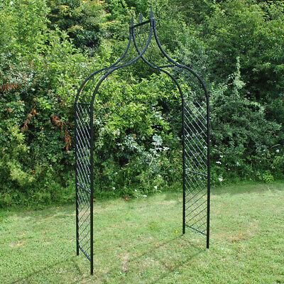 Versailles Metal Decorative Garden Arch Arbour with Ground Spikes