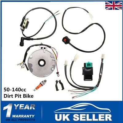 Universal Wiring Loom Switch Coil Spark Harness For 50-140cc Dirt Pit Bike Moto