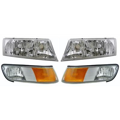 NEWMAR MOUNTAIN AIRE 2002-2004 37FT HEADLIGHTS HEAD LIGHTS LAMP CORNER SIGNAL RV
