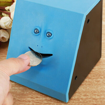 Funny Money Bank (Funny Facebank Face Piggy Bank Sensor Coin Eating Saving Money Box Kids Gift New )