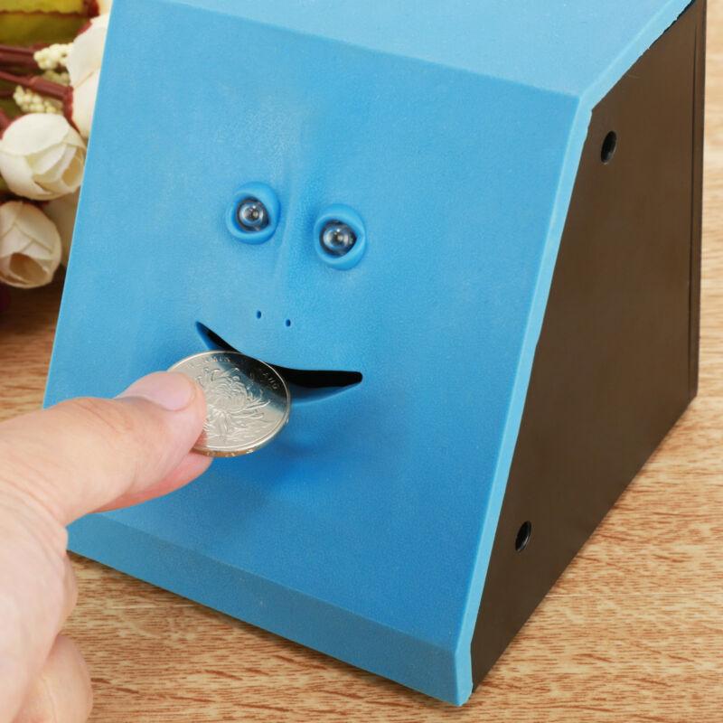 Funny Facebank Face Piggy Bank Sensor Coin Eating Saving Money Box Kids Gift New