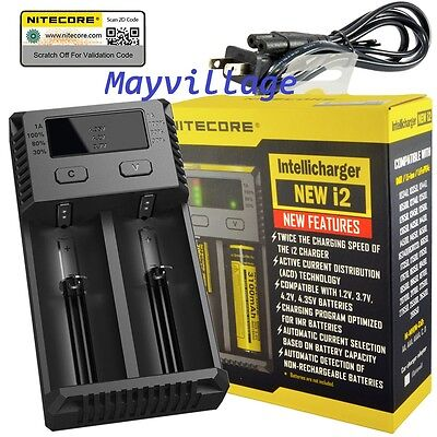 NEW 2016 NITECORE i2 Intellicharger Batter Charger 18650 14500 AAA Li-ion Ni-MH