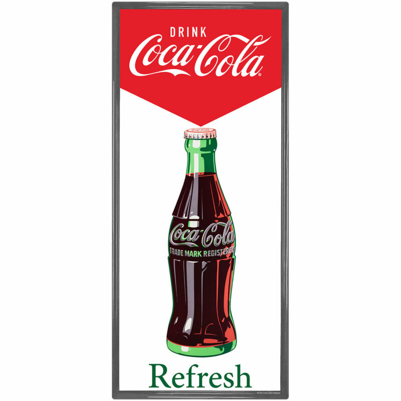 Coca-Cola Refresh Bottle Wall Decal 11 x 24 Vintage Style Kitchen