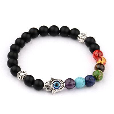 Natural Stone Energy Yoga Reiki 7 Chakra Handmade Men Fashion Charm Bracelets