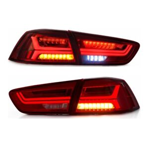 2X RED Rear Lamp LED Tail Light For 2008-2017 MITSUBISHI LANCER EVOLUTION EVO X