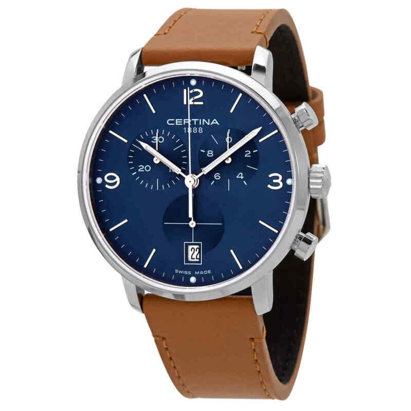 Certina DS Caimano Chronograph Quartz Blue Dial Watch C035.417.16.047.00