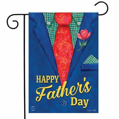 """Father's Day Suit Garden Flag Holiday Dads Tie 12.5"""" x 18"""" B"""